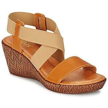 Schoenen Dames Sandalen / Open schoenen Lotus EMILIANO Brown / Beige