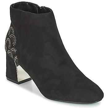 Schoenen Dames Enkellaarzen Moony Mood JASMINA Zwart