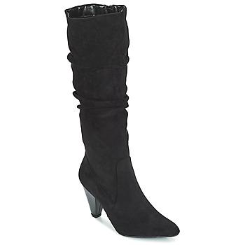 Schoenen Dames Hoge laarzen Moony Mood JULMA Zwart