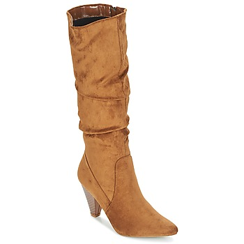 Schoenen Dames Hoge laarzen Moony Mood JULMA Brown