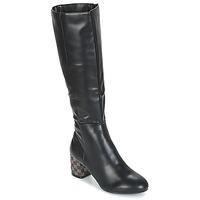 Schoenen Dames Hoge laarzen Moony Mood JISMIA Zwart