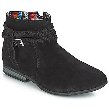 Schoenen Dames Laarzen Minnetonka DIXON BOOT Zwart