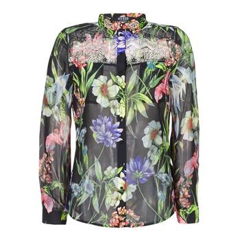 Textiel Dames Overhemden Guess CLOUIS Zwart / Multikleuren