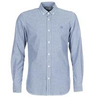 Textiel Heren Overhemden lange mouwen Serge Blanco 15 DOS Blauw