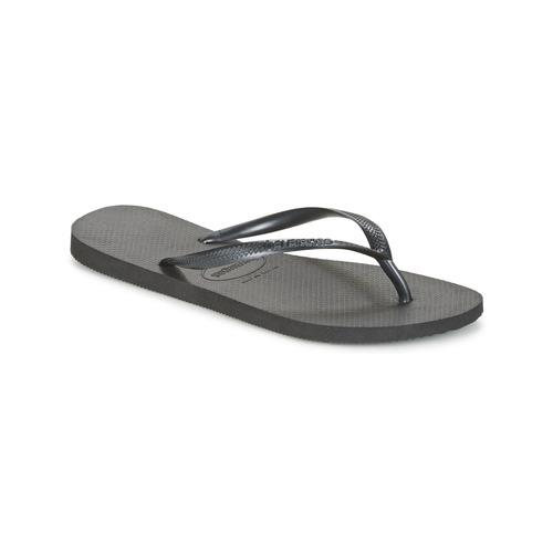 Schoenen Dames Slippers Havaianas SLIM Zwart