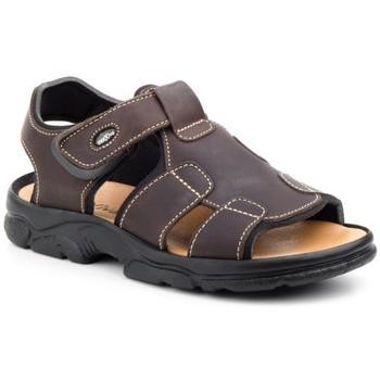 Schoenen Heren Outdoorsandalen Morxiva Shoes Sandalias de hombre de piel by Morxiva Marron
