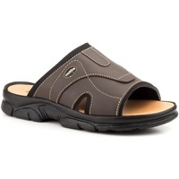 Schoenen Heren Leren slippers Morxiva Shoes Sandalias de hombre de piel by Morxiva Marron