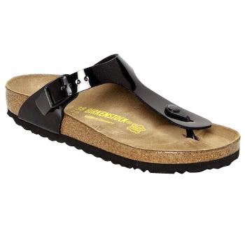 Schoenen Dames Slippers Birkenstock GIZEH Zwart