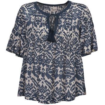 Textiel Dames Tops / Blousjes Stella Forest ANNAICK Ecru / Blauw