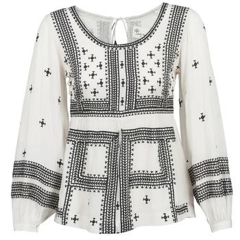 Textiel Dames Tops / Blousjes Stella Forest ANTONETA Ecru / Zwart