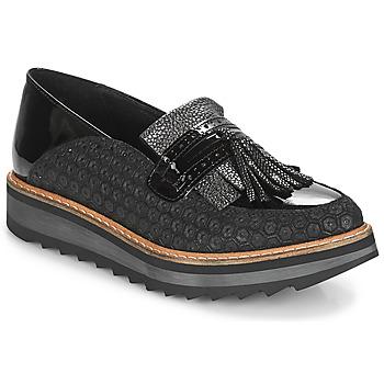 Schoenen Dames Mocassins Regard RINOVI V2 COMET NERO Zwart