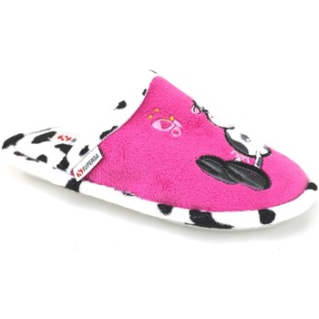 Schoenen Meisjes Sloffen Superga pantofole rosa fucsia tessuto AJ742 Rosa