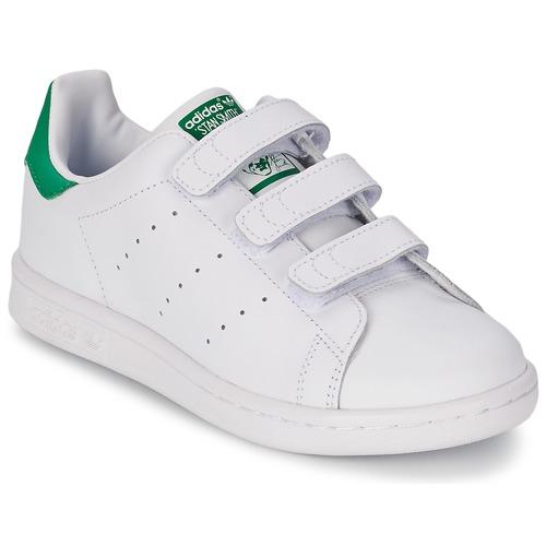 adidas originals stan smith cf child sportschoenen wit groen