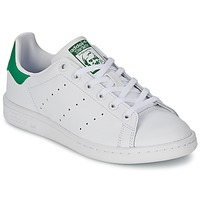 Schoenen Kinderen Lage sneakers adidas Originals STAN SMITH J Wit / Groen