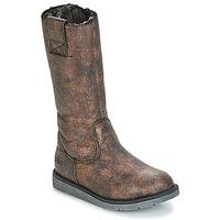 Schoenen Meisjes Hoge laarzen Mod'8 ALTANA Zwart / Brons
