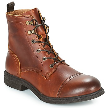Schoenen Heren Laarzen Selected TERREL LEATHER BOOT Cognac