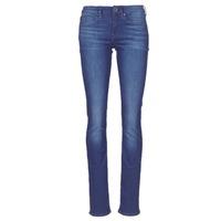 Textiel Dames Straight jeans G-Star Raw MIDGE SADDLE MID STRAIGHT Blauw / Medium / Aged