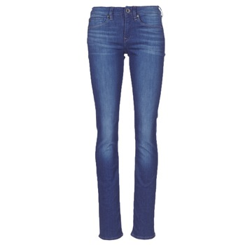 Textiel Dames Straight jeans G-Star Raw MIDGE SADDLE MID STRAIGHT Blauw / Medium / Aged