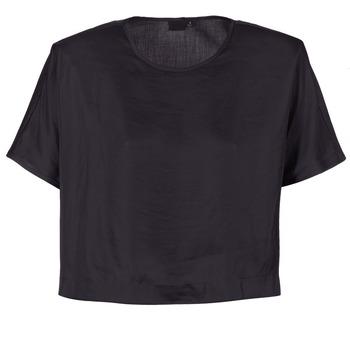 Textiel Dames Tops / Blousjes G-Star Raw COLLYDE WOVEN TEE Zwart