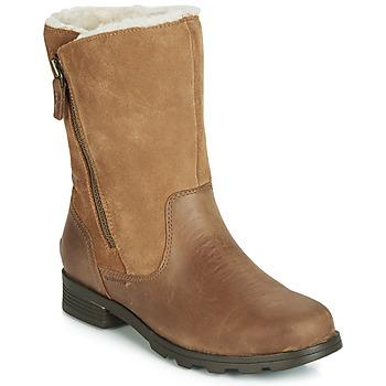 Schoenen Dames Laarzen Sorel EMELIE FOLDOVER  camel