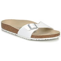 Schoenen Heren Leren slippers Birkenstock MADRID Wit