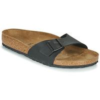 Schoenen Heren Leren slippers Birkenstock MADRID Zwart