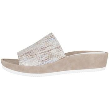 Schoenen Dames Leren slippers Ara Tivoli Blanc, Beige