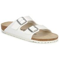 Schoenen Heren Leren slippers Birkenstock ARIZONA Wit