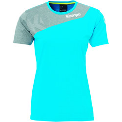 Textiel Dames T-shirts korte mouwen Kempa Maillot femme  Core 2.0 bleu flash/gris