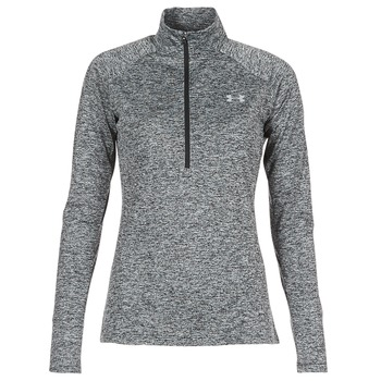 Textiel Dames T-shirts met lange mouwen Under Armour TECH 1/2 ZIP TWIST Zwart
