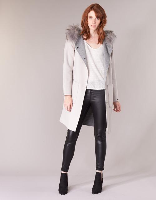 Textiel Dames Mantel jassen Oakwood YALE BI Beige / Grijs