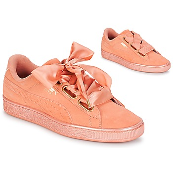 Schoenen Dames Lage sneakers Puma WN SUEDE HEART SATIN.DUSTY Orange
