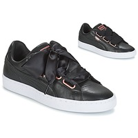 Schoenen Dames Lage sneakers Puma WN SUEDE HEART LEATHER.BLA  zwart