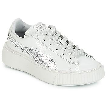 Schoenen Meisjes Lage sneakers Puma G PS B PLATFORM BLING.GRAY Gray