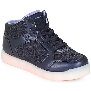 Schoenen Meisjes Hoge sneakers Skechers ENERGY LIGHTS Navy