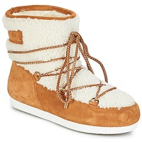 Schoenen Dames Snowboots Moon Boot FAR SIDE LOW SHEARLING Cognac / Wit