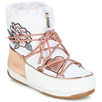 Schoenen Dames Snowboots Moon Boot PEACE & LOVE WP Wit / Roze / Gold