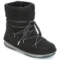Schoenen Dames Snowboots Moon Boot LOW SUEDE WP Zwart