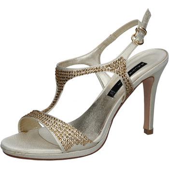 Schoenen Dames Sandalen / Open schoenen Bacta De Toi sandali platino raso strass BY95 Altri