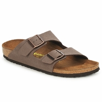Schoenen Heren Leren slippers Birkenstock ARIZONA Brown