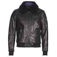 Textiel Heren Leren jas / kunstleren jas Redskins COMMANDER STRIKING Zwart