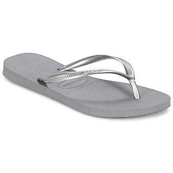 Schoenen Dames Slippers Havaianas SLIM Grijs / Staal
