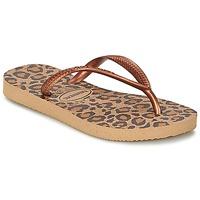 Schoenen Meisjes Slippers Havaianas SLIM ANIMALS Brons