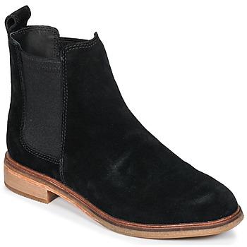 Schoenen Dames Laarzen Clarks CLARKDALE  zwart / Sde