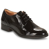 Schoenen Dames Derby Clarks NETLEY  zwart / Pat