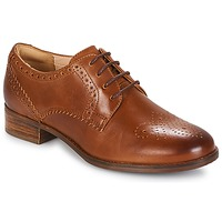Schoenen Dames Derby Clarks NETLEY Brown