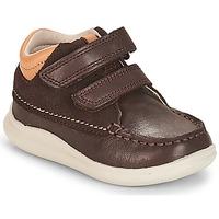 Schoenen Jongens Hoge sneakers Clarks Cloud Tuktu Bruin / Combi / Lea