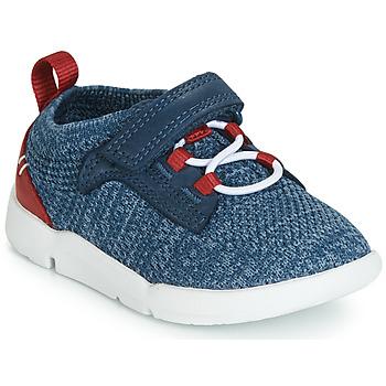 Schoenen Jongens Lage sneakers Clarks Tri Hero Blauw
