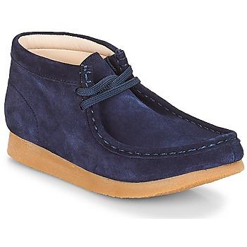 Schoenen Kinderen Laarzen Clarks Wallabee Bt Navy / Suede