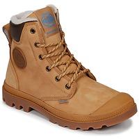Schoenen Laarzen Palladium PAMPA SPORT CUFF WPS Geel / Brown